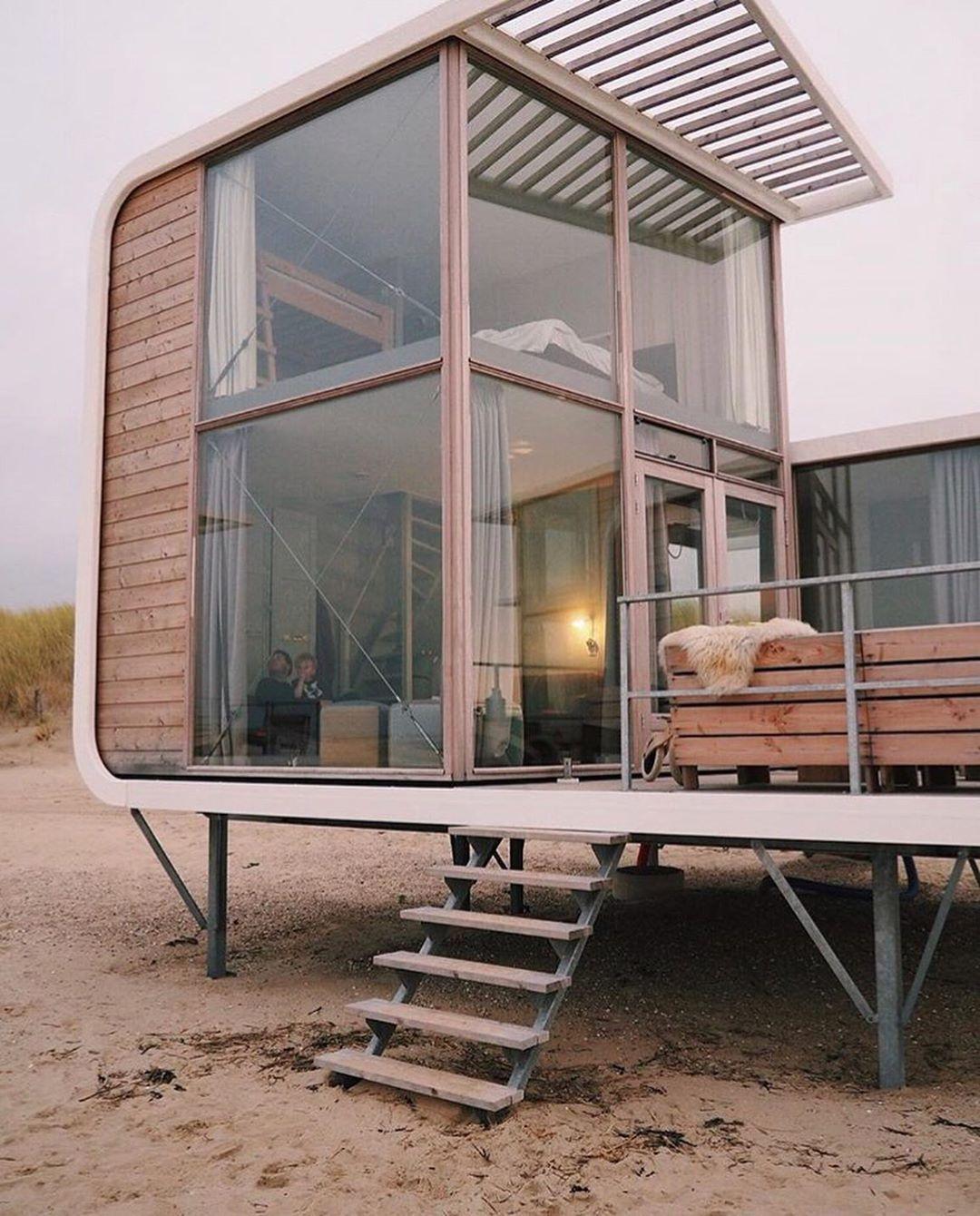 "Compact Living on Instagram: ""@strandweelde Beach Cabins, #Zeeland"