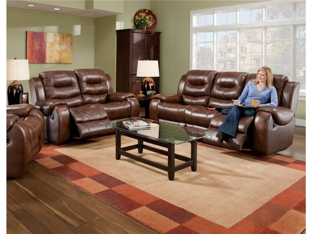 Lane Furniture Leather Living Room | Corinthian Living Room Dual ...