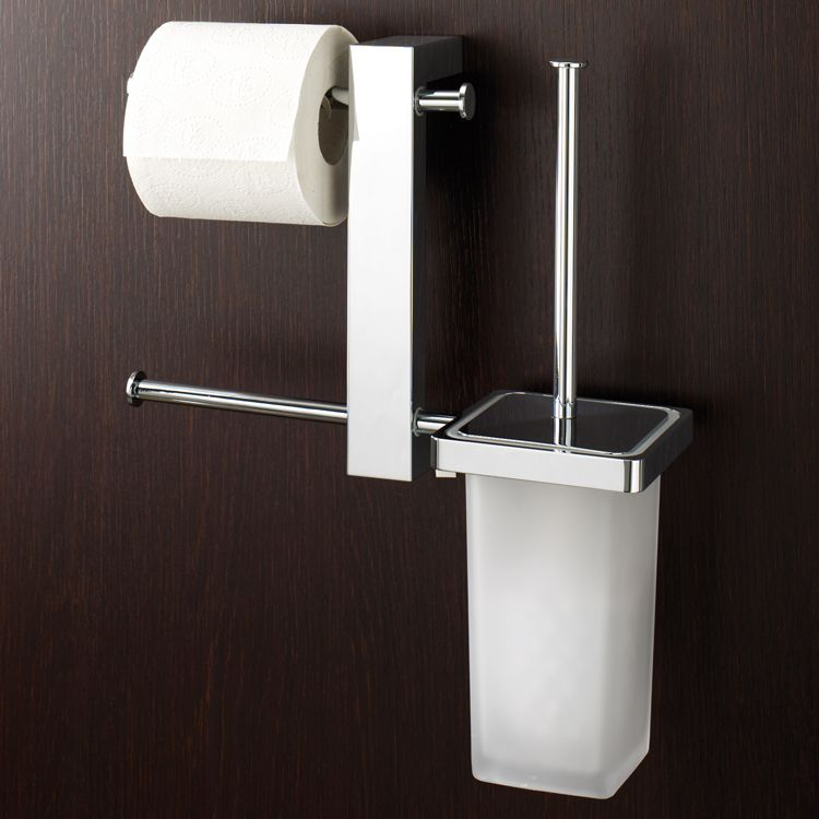Wall Mounted Rack With Double Toilet Roll Holder And Toilet Brush Holder Wall Mounted Toilet Toilet Paper Holder Toilet Brush