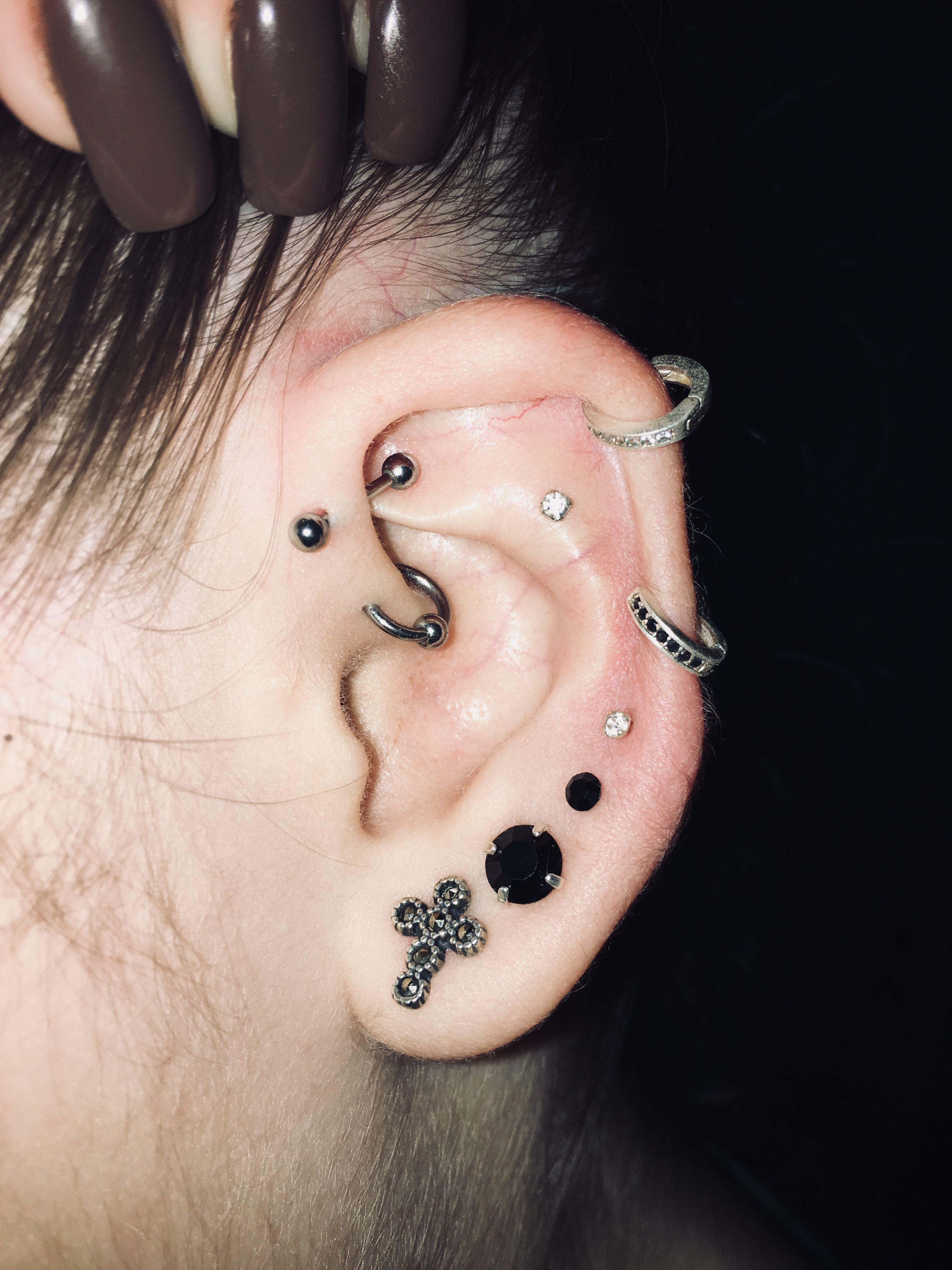 Pin by nikki on Cute ear piercings  Pinterest  Piercings Piercing