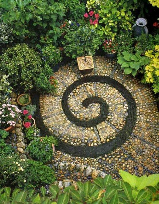 meditation garden with succulents Love this A meditation circle