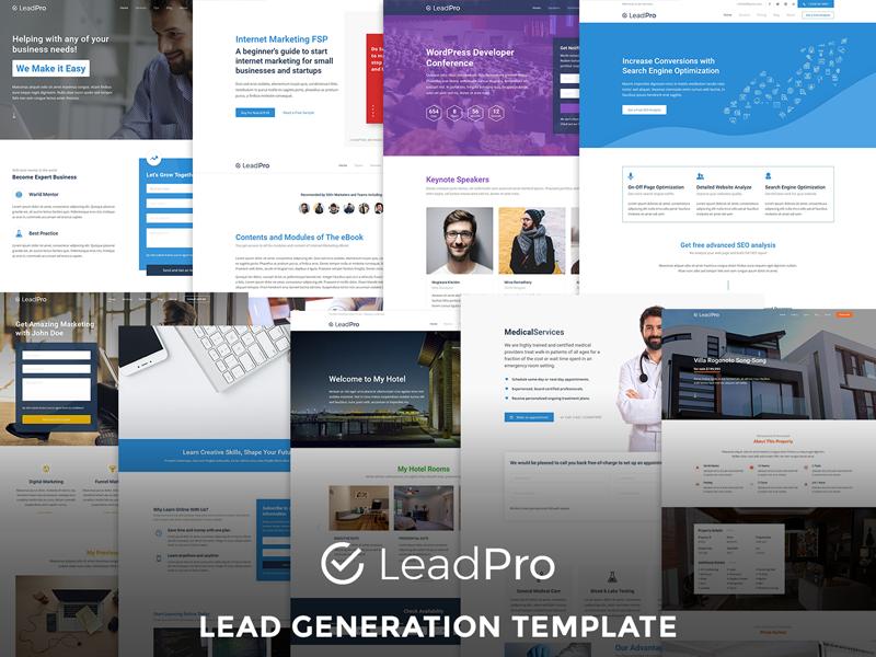 LeadPro Lead Generation Responsive Html Template HTML - Lead generation website template