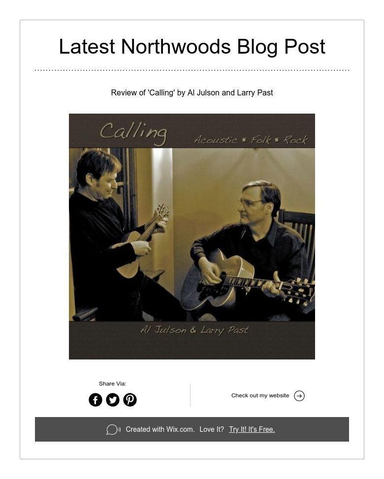 Latest northwoods blog post blog create website larry