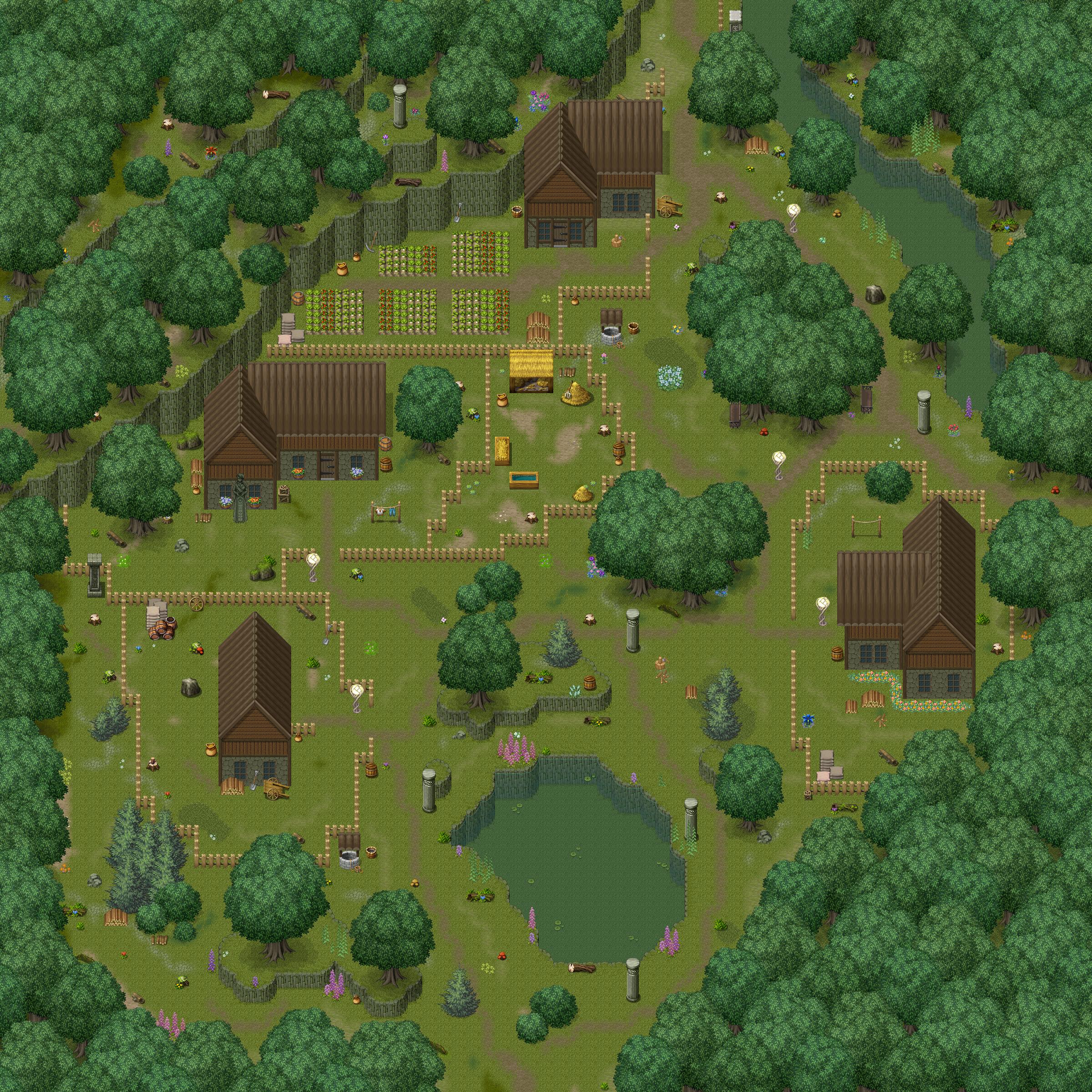 Mountain Town by LovableTroll   Pixel art landscape, Rpg