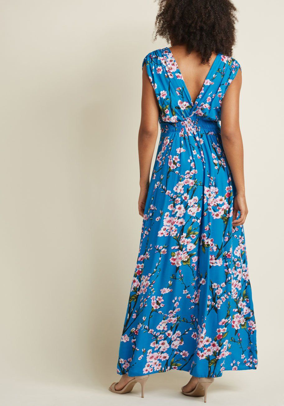 51574d958a Feeling Serene Maxi Dress in Cherry Blossoms in M