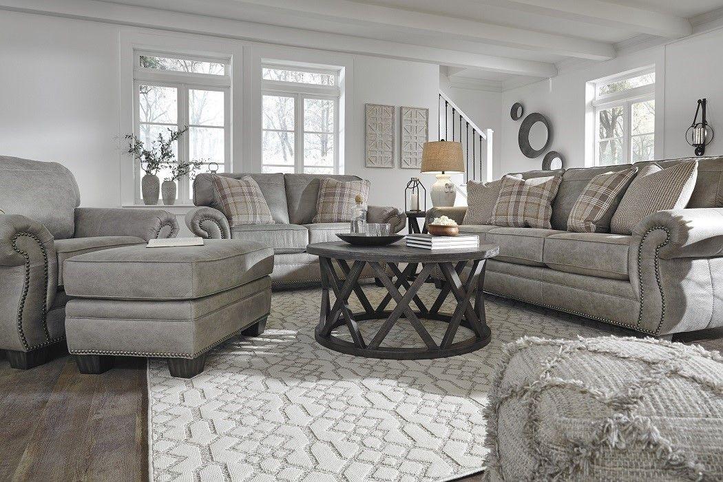 American Design Furniture By Monroe Aspen Leather Living Set