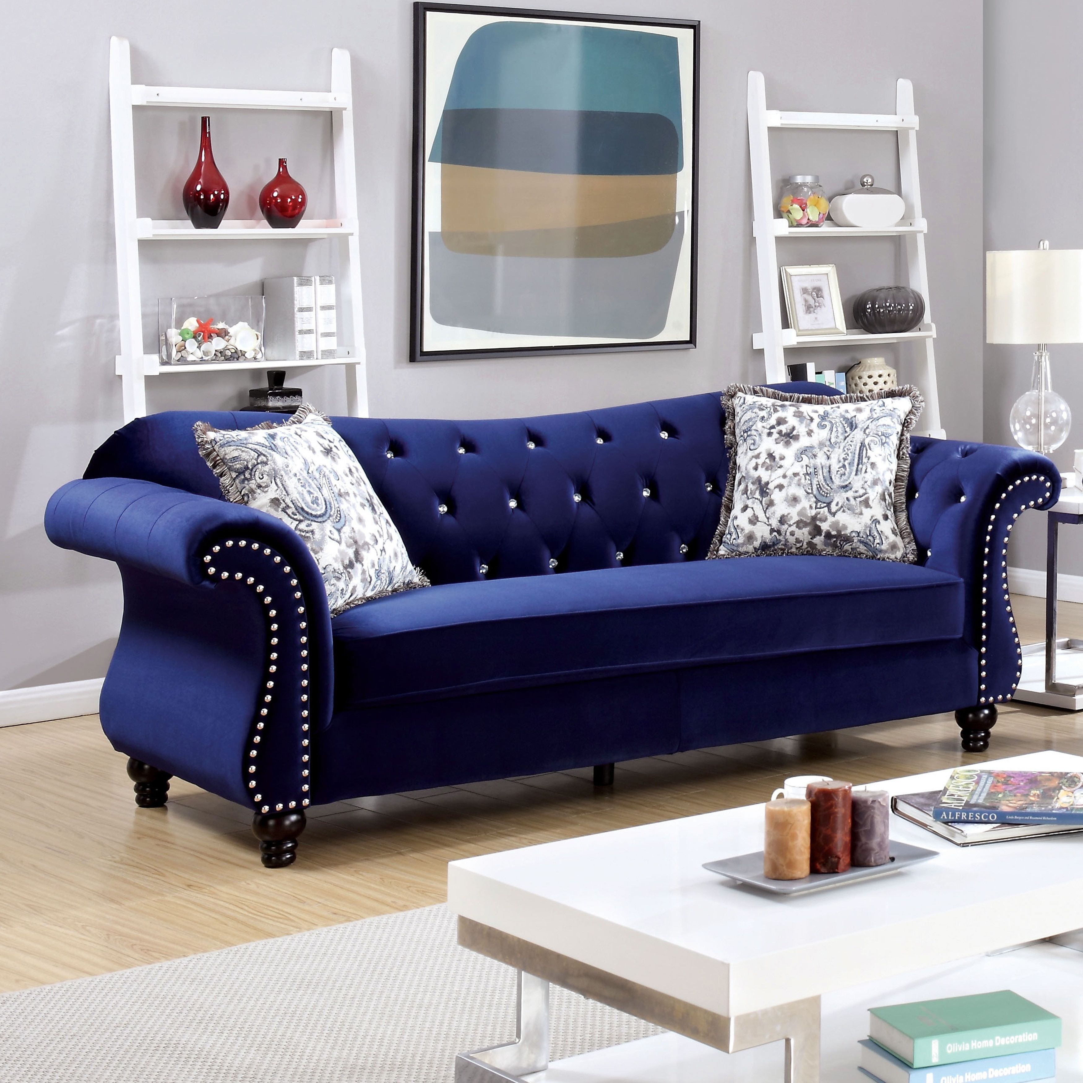 Outstanding Furniture Of America Dessie Traditional 2 Piece Tufted Sofa Creativecarmelina Interior Chair Design Creativecarmelinacom