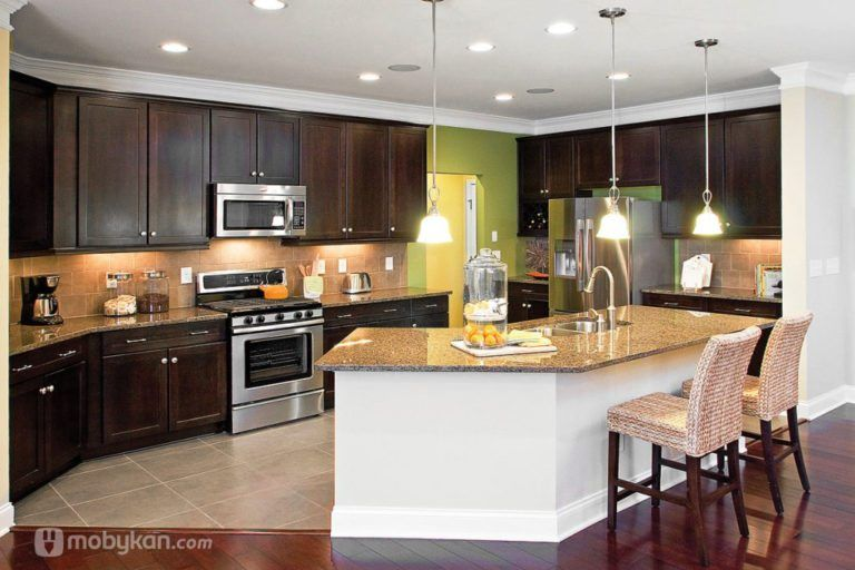 صور مطابخ حديثه و اشكال مطابخ مودرن و مميزه من موبيكان Kitchen Remodel Layout Living Room And Kitchen Design Open Concept Kitchen Living Room