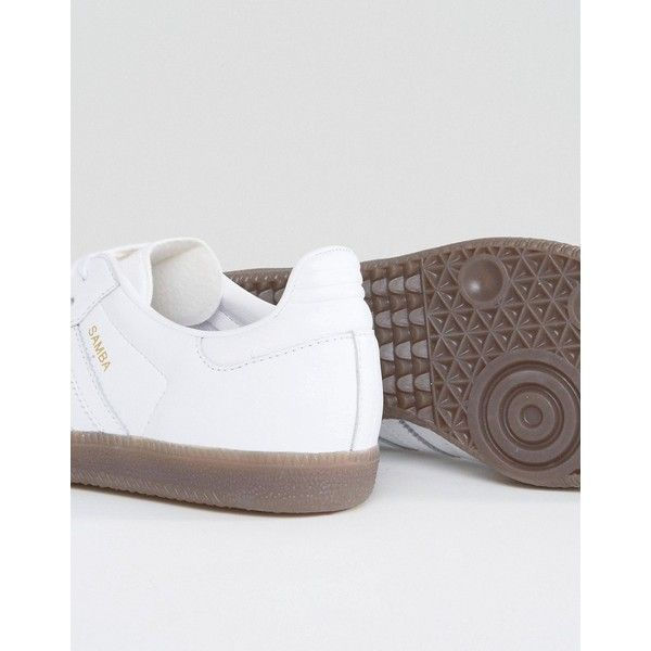 9de33d1939ed6b ... france adidas originals white samba og trainers 97 liked on polyvore  featuring shoes. white high