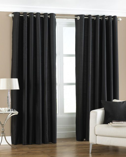 Mirabel Pair Of Skye Lined Window Curtain Panels Drapes With Grommet Eyelet Top 90 Wide X 90 Drop Natural Living Room Decor Curtains Luxury Curtains Curtains