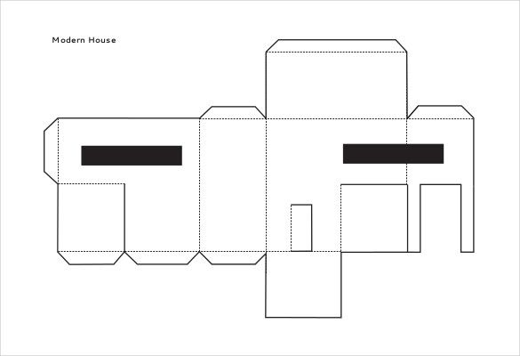 Tiny House Blank Template in 2020   Paper house template ...   House Paper Outline