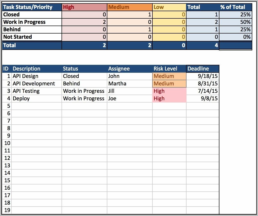 Client Tracking Spreadsheet