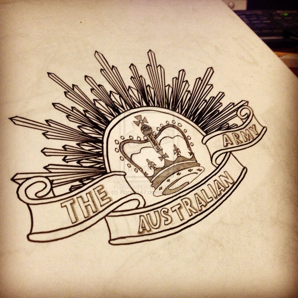 Australia ANZAC Badge Drawing By Roney147