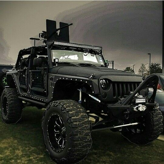 50 Cal Mounted On Starwood Custom Jeep Jeep Truck Badass Jeep