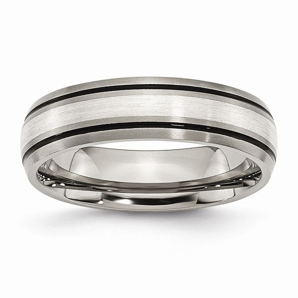 Bridal Titanium Grooved 6mm Polished Band
