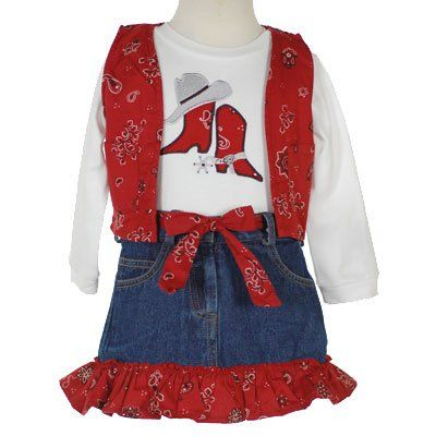 Adorable western horsey clothing feature adorable patterns on ultra-comfy material that's perfect for infant and toddlers.