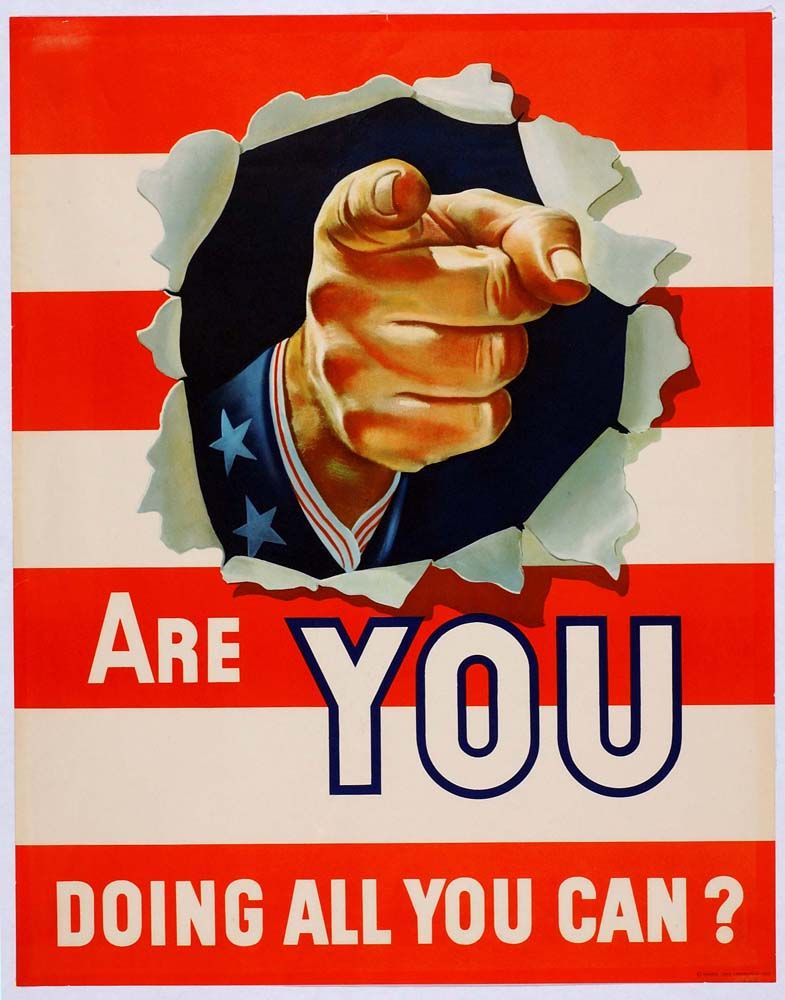 World War 2 Poster Are You Doing All You Can Wwii Propaganda Posters Patriotic Posters Propaganda Posters