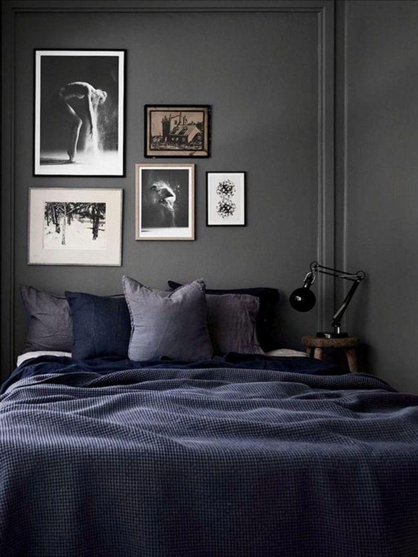 47 Amazing Masculine Bedroom Design Ideas Dark bedroom