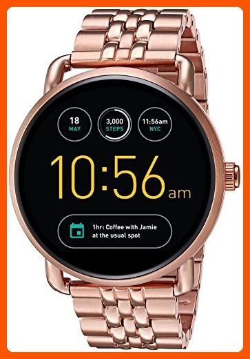 Fossil Q Wander Gen 2 Rose Gold Tone Stainless Steel Touchscreen