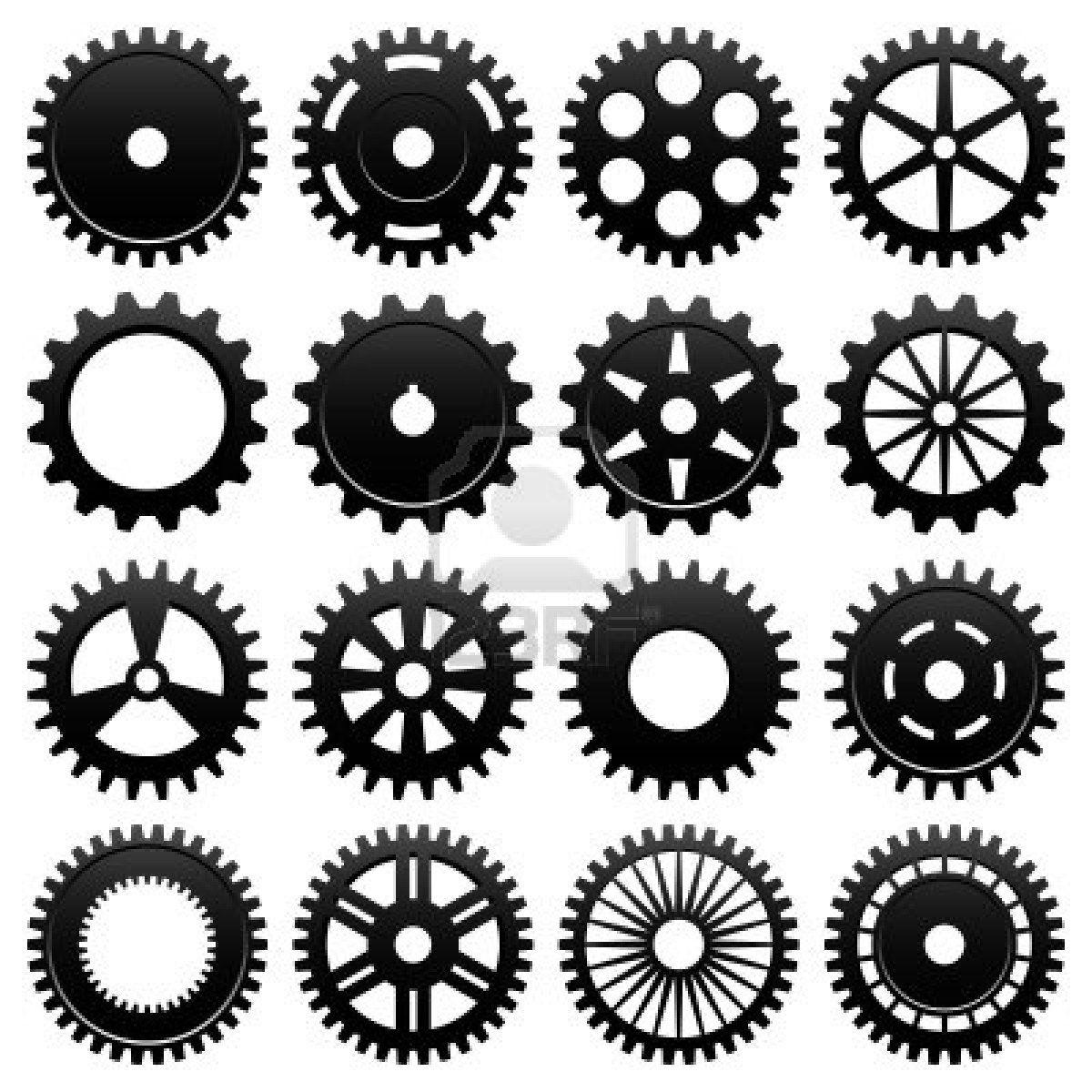 Machine Gear Wheel Cogwheel Vector Gear Tattoo Gear Wheels Gear Template