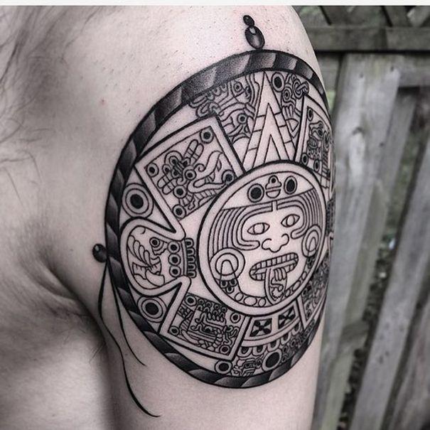 mayan tribal tattoos for men tribal mayan tattoos pinterest mayan tattoos and tattoo. Black Bedroom Furniture Sets. Home Design Ideas
