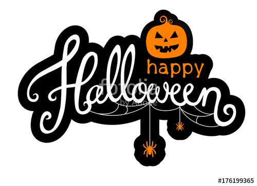 halloween happy vector text background illustration holiday – Scary or Horror Invitation Cards