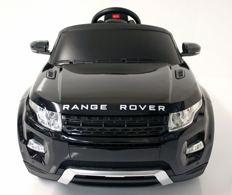 kids electric car range rover evoque 12v black range rover