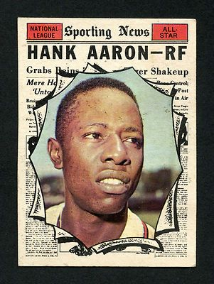 1961 TOPPS HANK AARON ALL-STAR HIGH #577 SPORTING NEWS AS MILWAUKEE BRAVES HOF