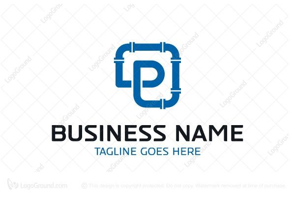 Logo For Sale Letter P Pipe Logo Simple Letter P Pipe Logo