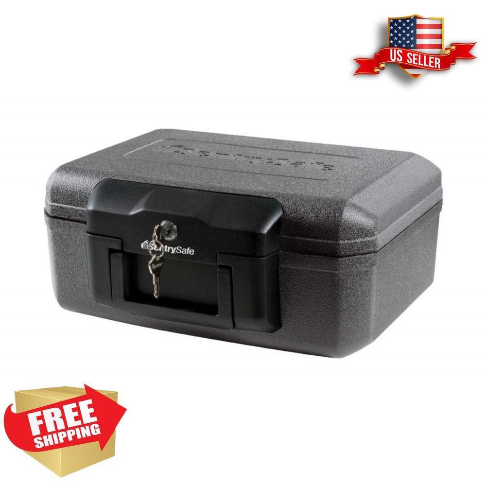 Details About Fireproof Security Box Fire Safe Chest Key Lock Cash