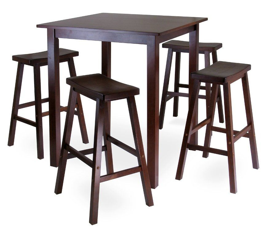 Remarkable Best High Top Tables Ikea With Wooden Style And Four Chairs Creativecarmelina Interior Chair Design Creativecarmelinacom
