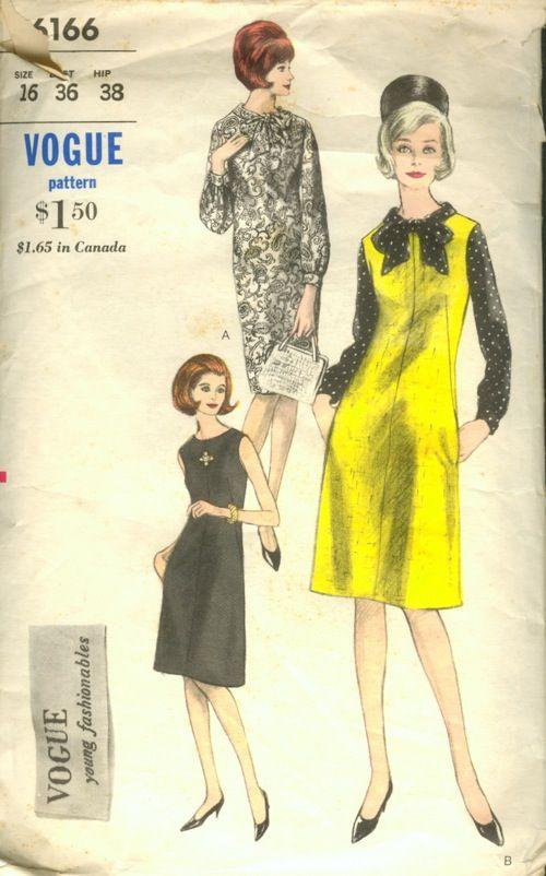 Vogue 6166 Pinterest Vintage Sewing Patterns Vintage
