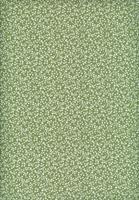 Tecido Anita fundo verde c/ bege