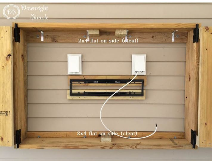 outdoor tv enclosure ideas cabinet diy amazon downright simple