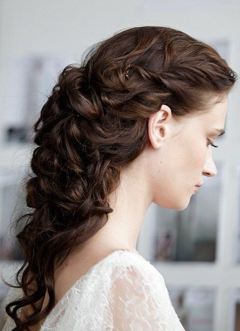 Marchesa Spring 2013 Hair Styles Curly Hair Styles Wedding Hairstyles