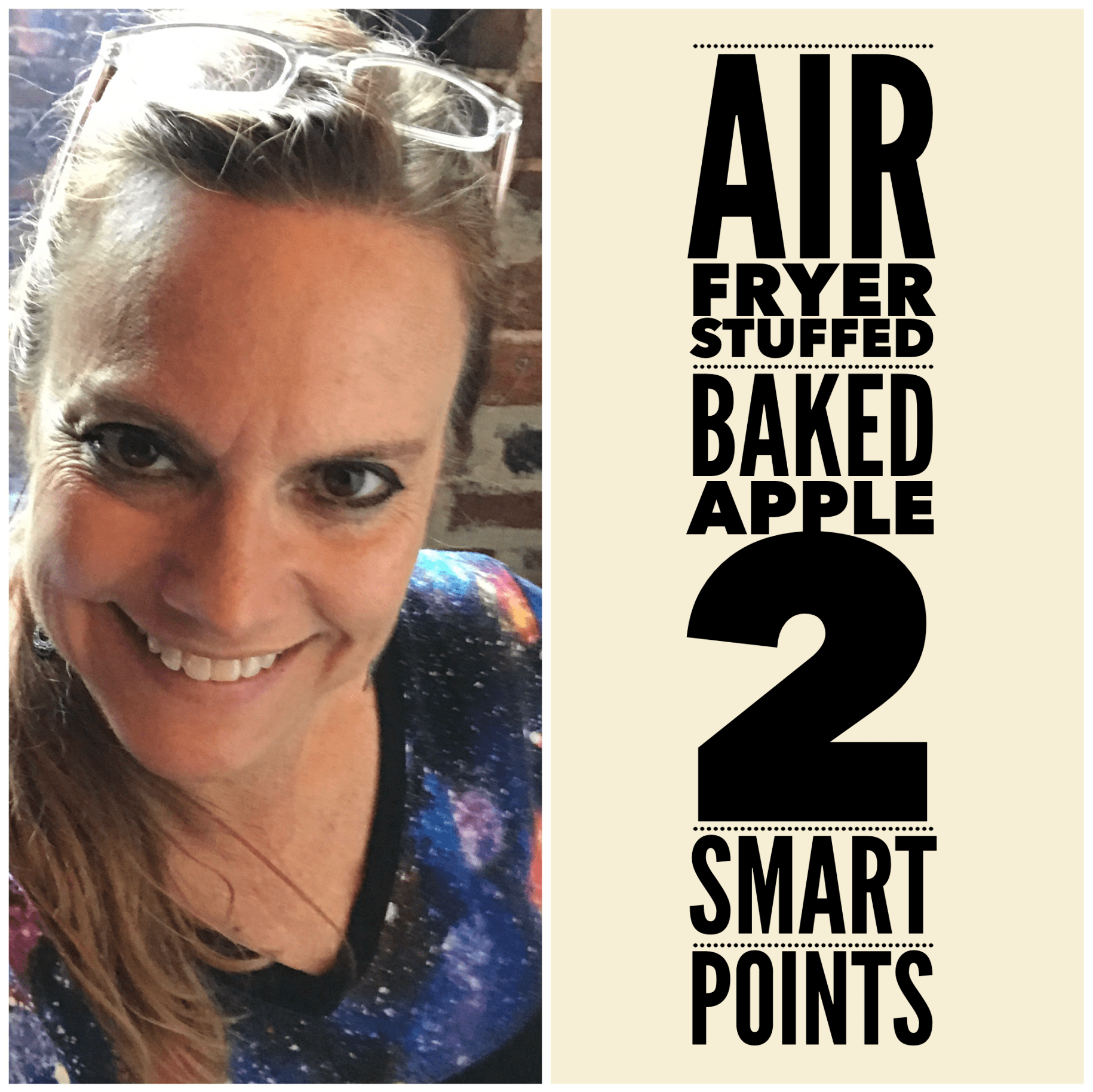 Air Fryer Baked Stuffed Apples 2 WW Freestyle Smart