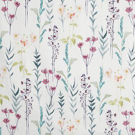 Buy John Lewis Longstock Lined Pencil Pleat Curtains Multi Online At Johnlewis Com Wallpaper Cath Kidston Wallpaper Floral Damask