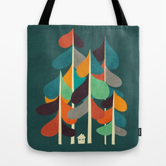 So sweet. :: Cabin in the woods Tote Bag
