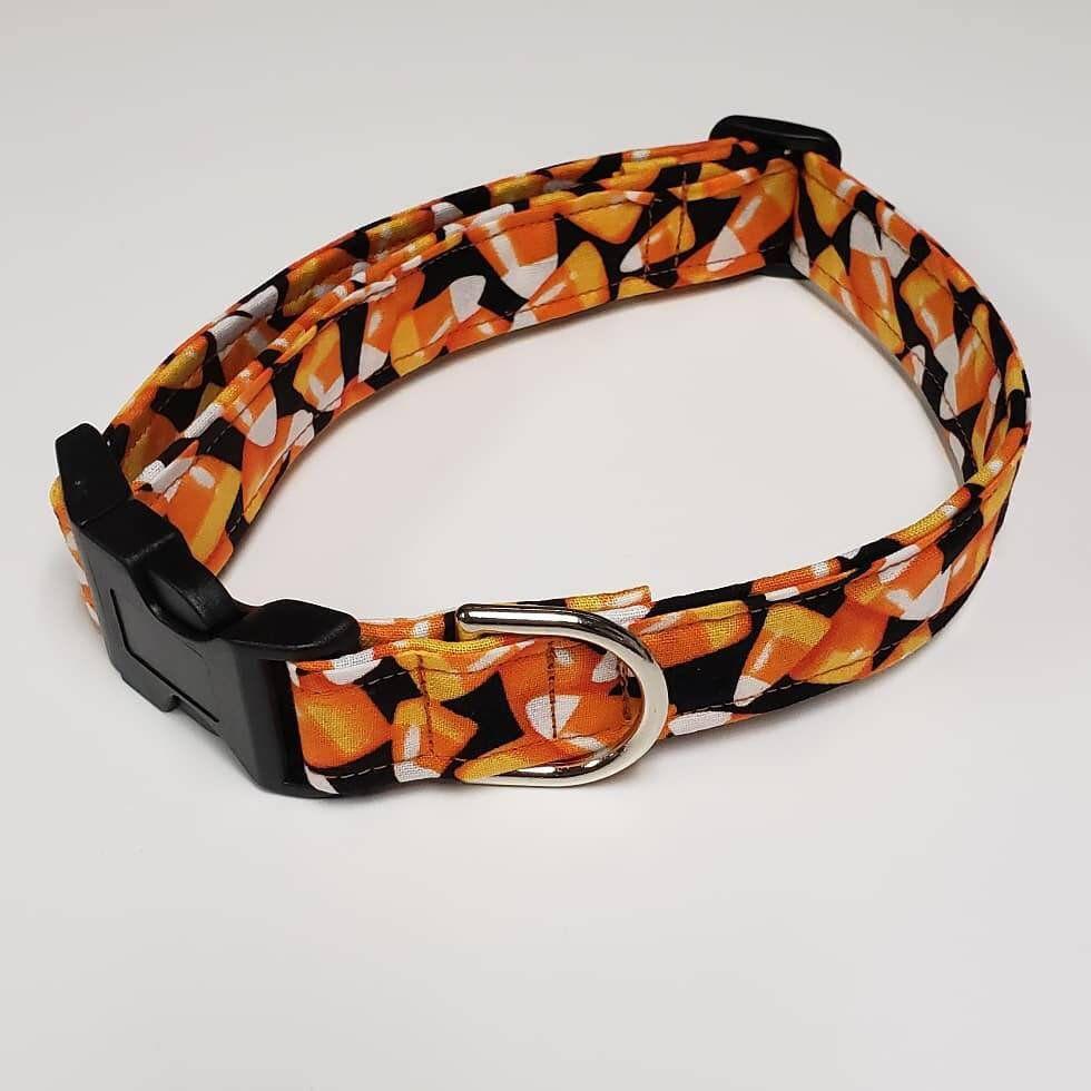 Candy corn for halloween handmade dog collar handmade