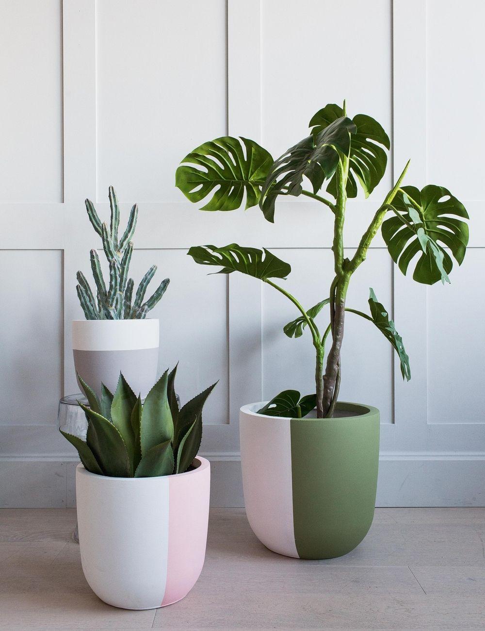 Small Dia 27cm X H 26cmmedium Dia 34cm X H 33cmlarge Dia 43cm X H 42cmhand Painted In The Uk Made Clay Plant Pots House Plants Decor Plant Pot Diy