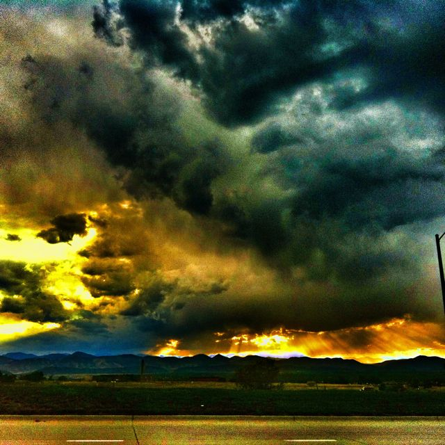Mountains Highlands Ranch: A Small Storm Rolling Through Highlands Ranch...I Love