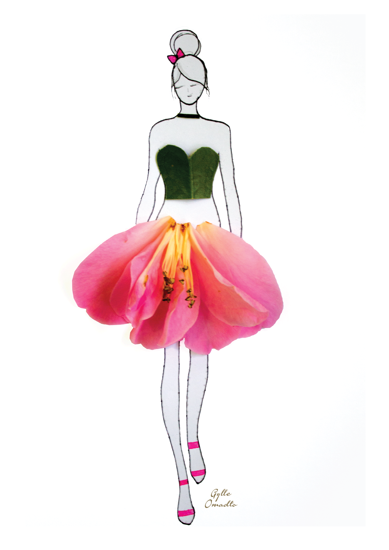 """""""made of real flower"""" Fashion Illustrations With Real ..."""