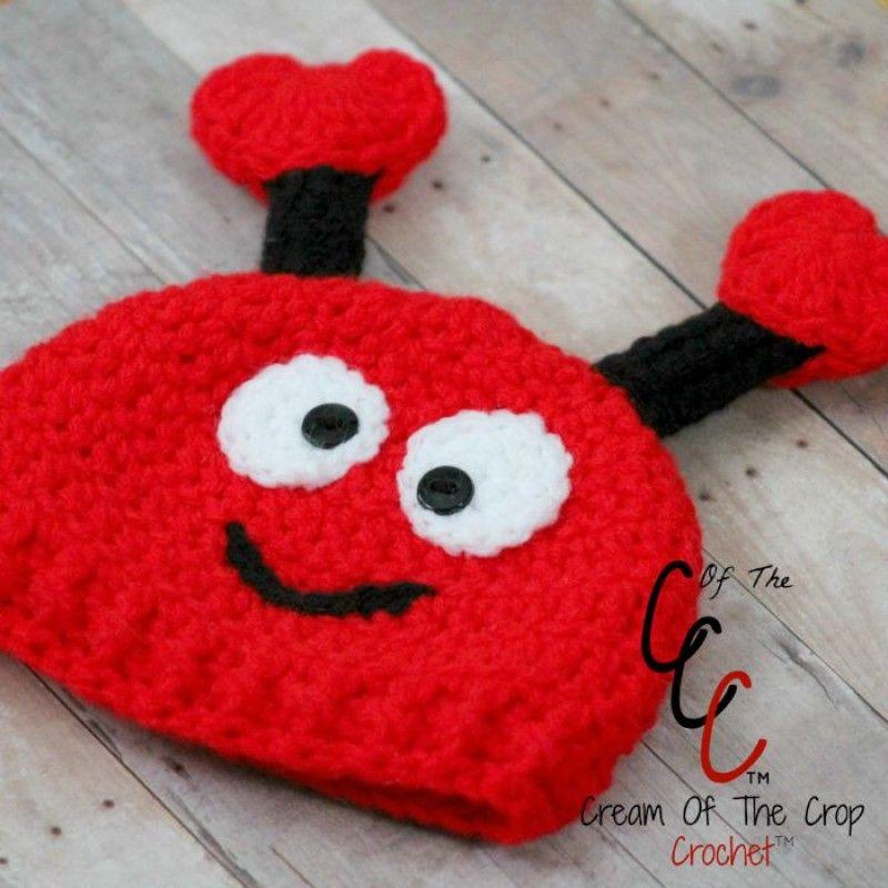 Premium Crochet Pattern Preemienewborn Love Bug Hat By Cream Of