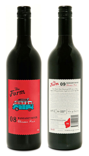 Cute van makes me think of holidays in the sun. The Farm wine label by brainCELLS #vinosmaximum