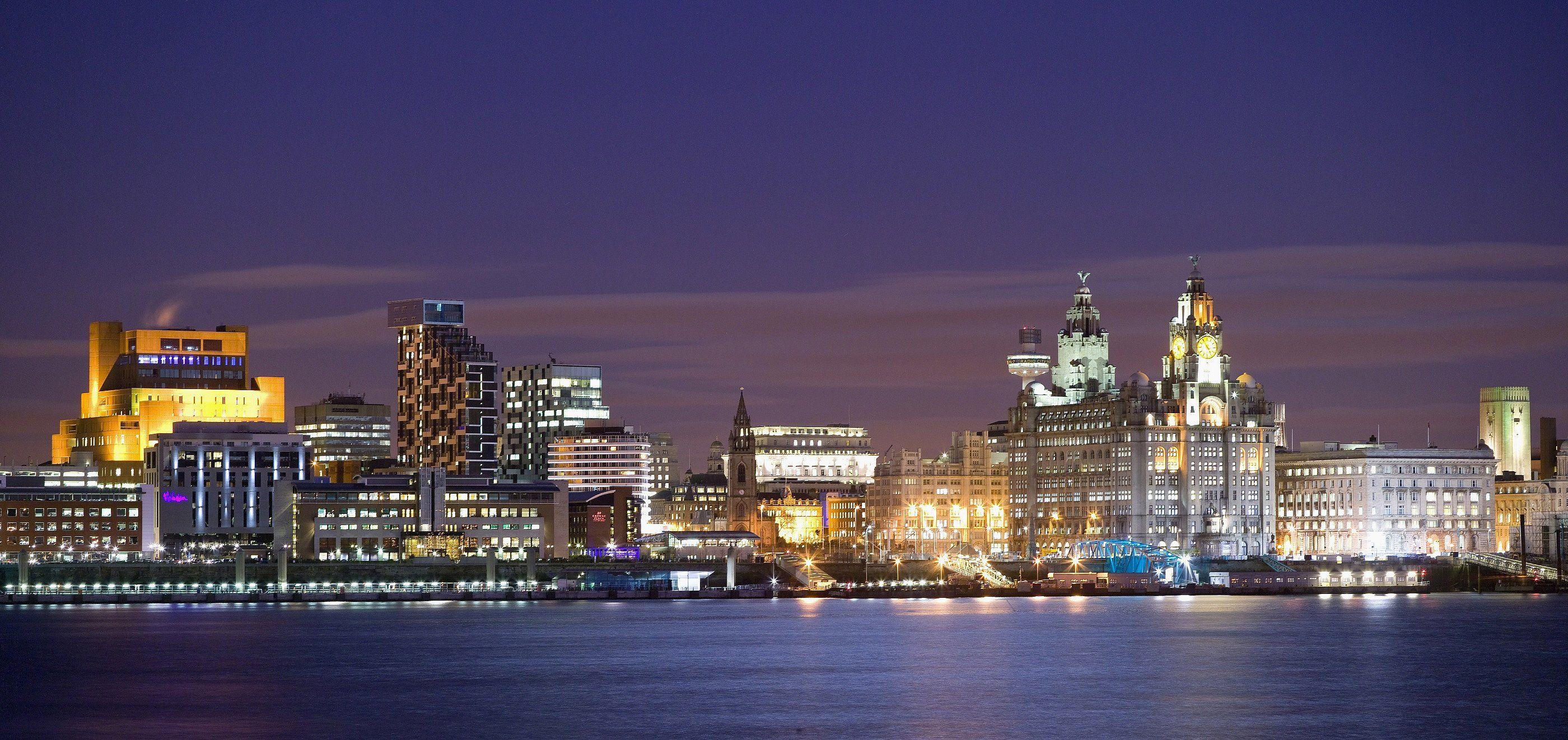 Liverpool Uk Liverpool Skyline Liverpool City Liverpool Waterfront