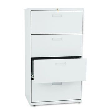 500 Series Four-Drawer Lateral File 30w x53-1/4h x19-1/4d Light Gray by Hon. $615.24