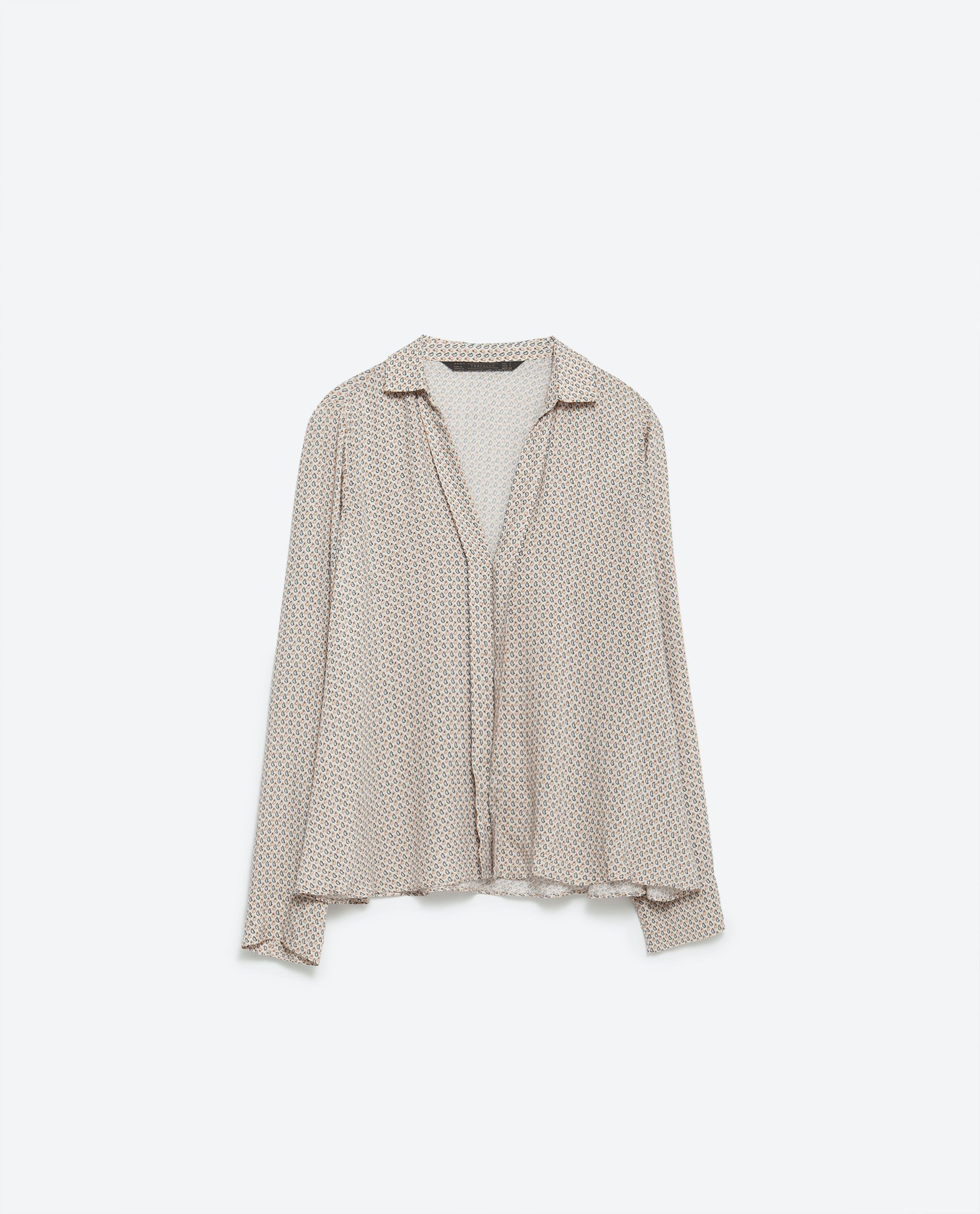 SHIRT WITH LAPEL - Tops - TRF   ZARA United States