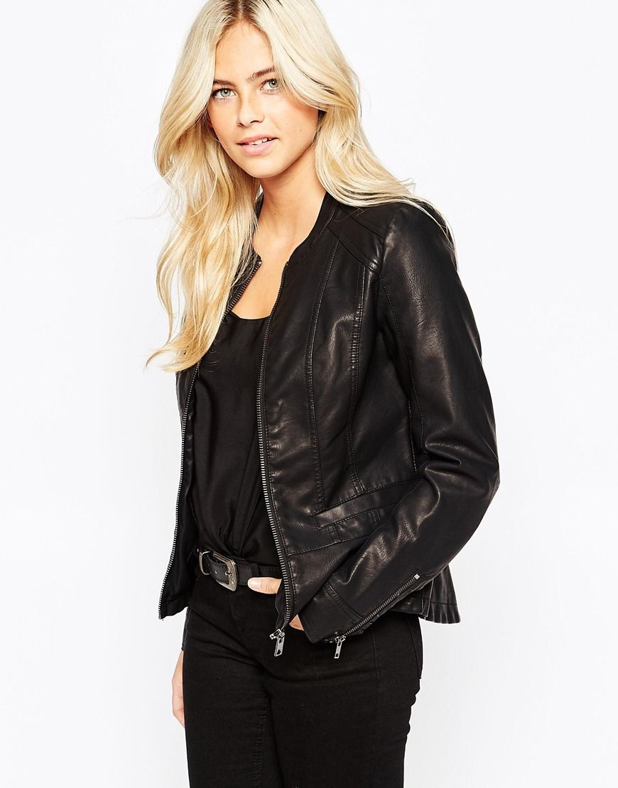 Womens leather jackets at asos