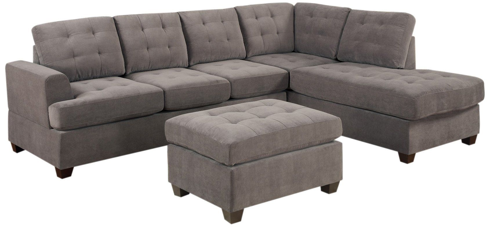 Best Amazon Com Bobkona Austin 3 Piece Reversible Sectional 400 x 300