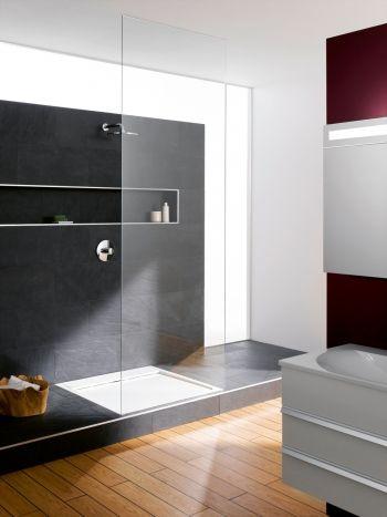 die burgbad chrono 2 0 dusche mit podest bad ideen pinterest podest badezimmer und b der. Black Bedroom Furniture Sets. Home Design Ideas